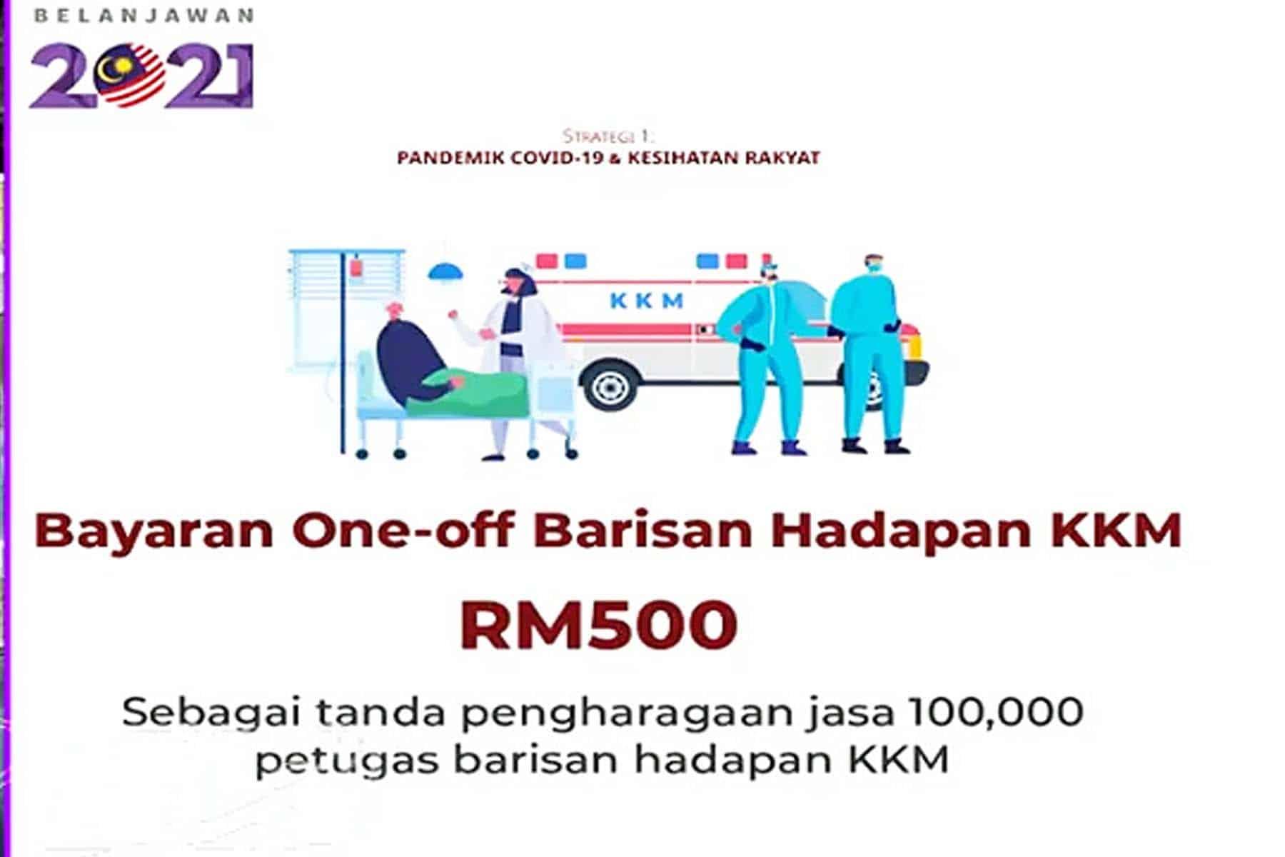 Terkini :Bayaran RM500 wang tunai kepada pekerja kesihatan