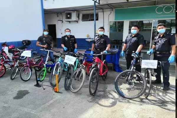 Pencuri basikal akhirnya 'terciduk'