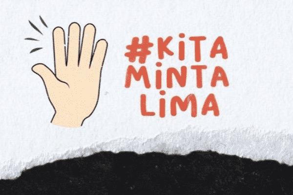 #KitaMintaLima, gerakan baru rakyat di sosial media