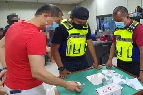 Kantoi!!! Main judi dalam kilang, 18 individu ditahan