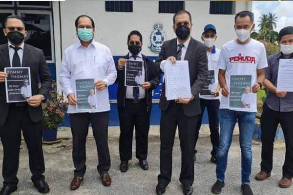 lapor polis terhadap Tommy Thomas-Pemuda Umno