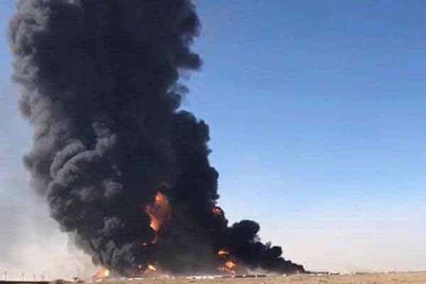 Gempar!!Puluhan lori tangki terbakar di sempadan Afghanistan-Iran