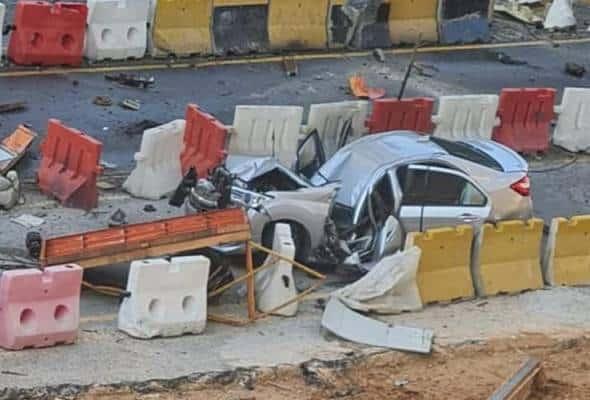 Kren tumbang lagi di lebuh raya SUKE, 2 maut