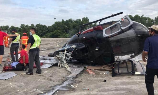 Heli Airbus H125 terhempas, semua selamat