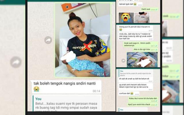 Gempar!! Seorang wanita terkejut bayi tertukar di Hospital