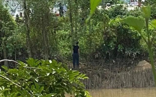 Gempar!! Seorang anggota polis ditemui mati tergantung di atas pokok