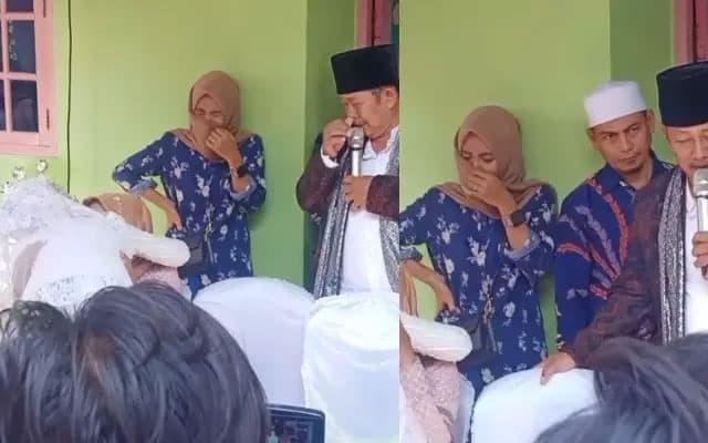 Sebak!! Isteri pertama menangis lihat suami kahwin lagi