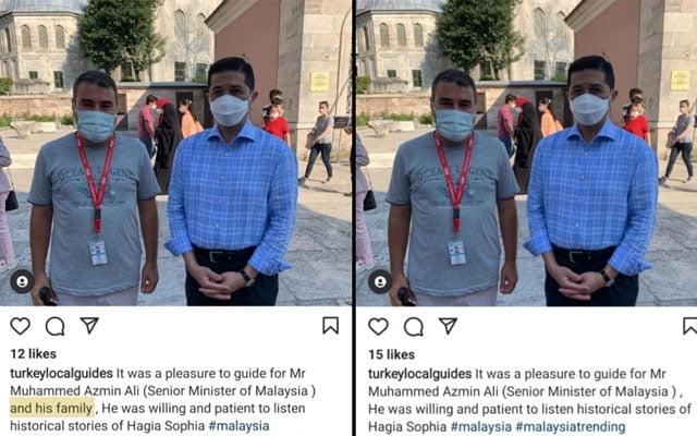 """Rakyat Selangor tersepit dengan PKPD, Menteri MITI dan """"keluarganya"""" bersiar-siar di Turki ?"""