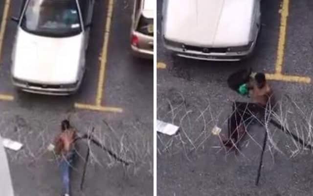 [Video] 3 lelaki lepasi kawat berduri ketika PKPD
