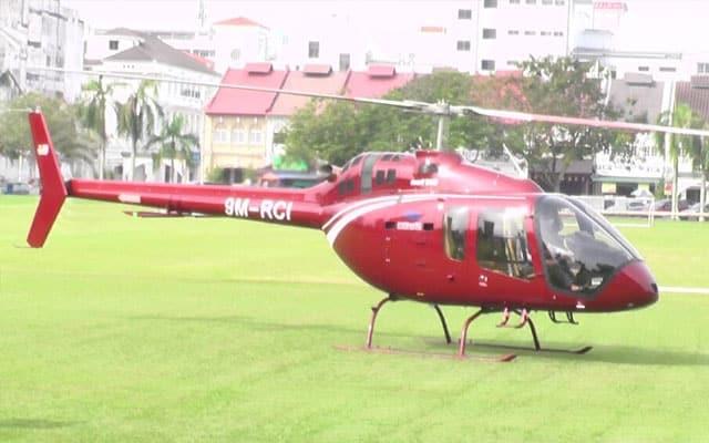Naik helikopter dari KL ke Ipoh semata-mata beli nasi ganja
