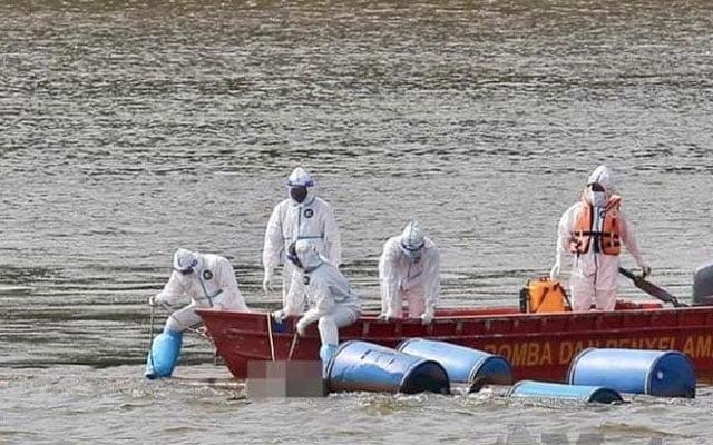 Mayat terapung di Sungai pakai gelang kuarantin Covid-19