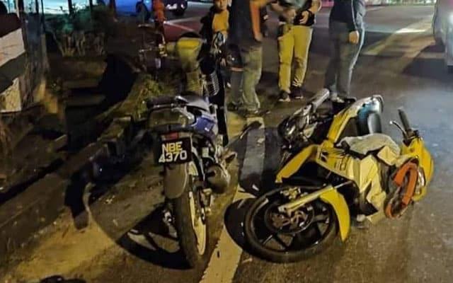 Pemilik Motosikal 'Fancy' nekad langgar Polis bila diminta ke tepi