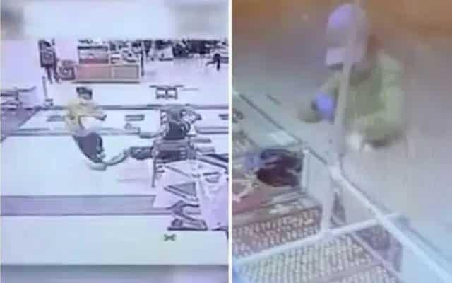 Tular video lelaki hulur kaki, perompak tersadung rompakan kedai emas gagal