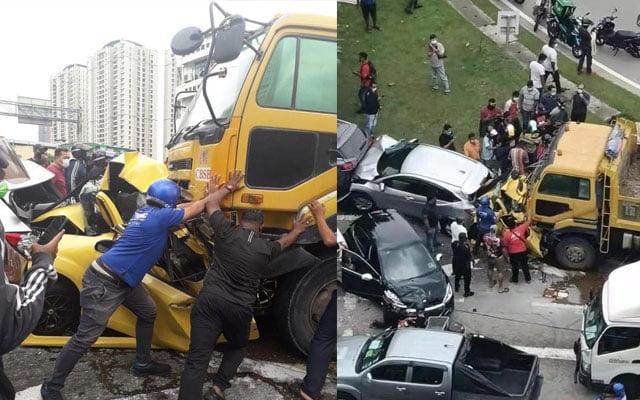 Tular video kemalangan ngeri di jalan Ipoh, Sentul hari ini