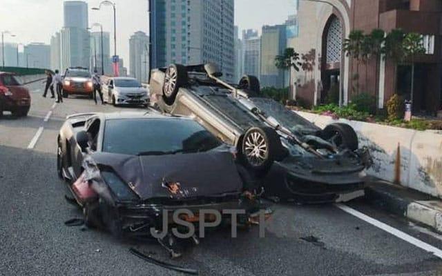 Tular video Lamborghini hentam Proton Perdana sampai terbalik