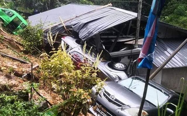 Tanah runtuh Kota Kinabalu, dua mangsa maut terkambus runtuhan