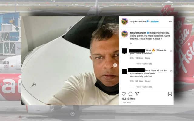 Tayang Tesla mewah, Tony Fernandes dikecam pelanggan AirAsia