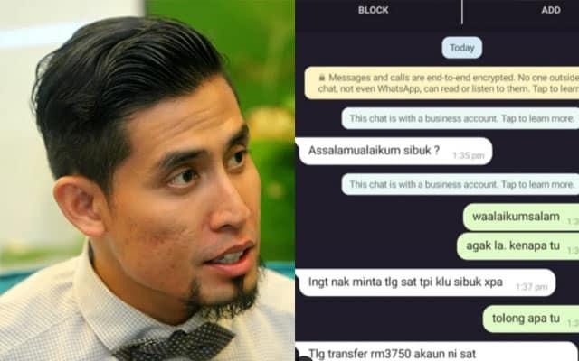 Whatsapp Ustaz Don di'hack' scammer pinjam duit